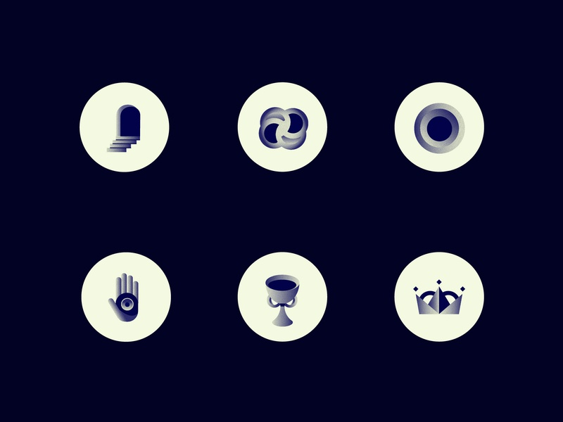 Mistery Icons branding logo alchemy vector noise cup door crown hand icondesign icon illustration