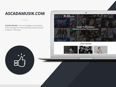 Ascada Musik Indonesia, Web Design & UX/UI website uiux ux ui music ascadamusik
