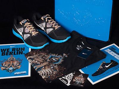 NIKE X Mike Friedrich nike mike friedrich berlin sneaker t-shirt apparel illustration design running marathon