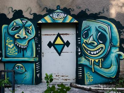 The Keeper keeper graffiti mike friedrich berlin blue wall