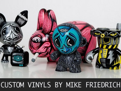 Custom Vinyl Toys mike friedrich cuke toys custom art customizing vinyl toys dudebox kidrobot kozik labbit