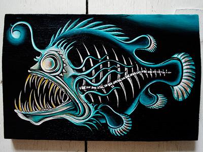 Lucidum Calvariam mike friedrich cuke painting lucisum calvariam deep sea beauties from the dead deep