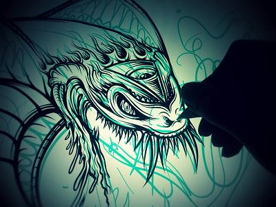 WIP: Jungle Juice Poster mike friedrich cuke illustration digital illustrator hrlqn