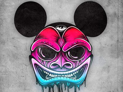 Harlequin Mickey mike friedrich cuke illustration digital illustrator mickey mouse micky mouse hrlqn harlequin