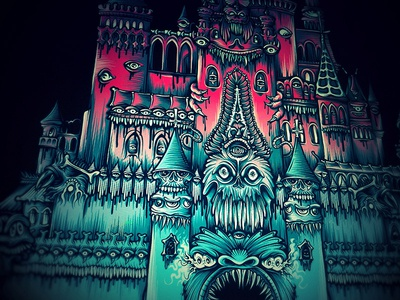 WIP: Castle Of Dreams mike friedrich cuke illustration digital illustrator mickey mouse micky mouse hrlqn harlequin