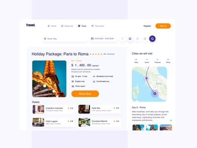 Adaptive Tour Booking Platform platform booking tourism tourist travel agency travel app travel branding profile animation ios concept web site dashboard ui gif web