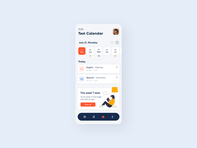 Mobile App for Learning Languages Online dashboard concept teacher students lessons stream stream panel learning school education mobile app design mobile app ios ui design