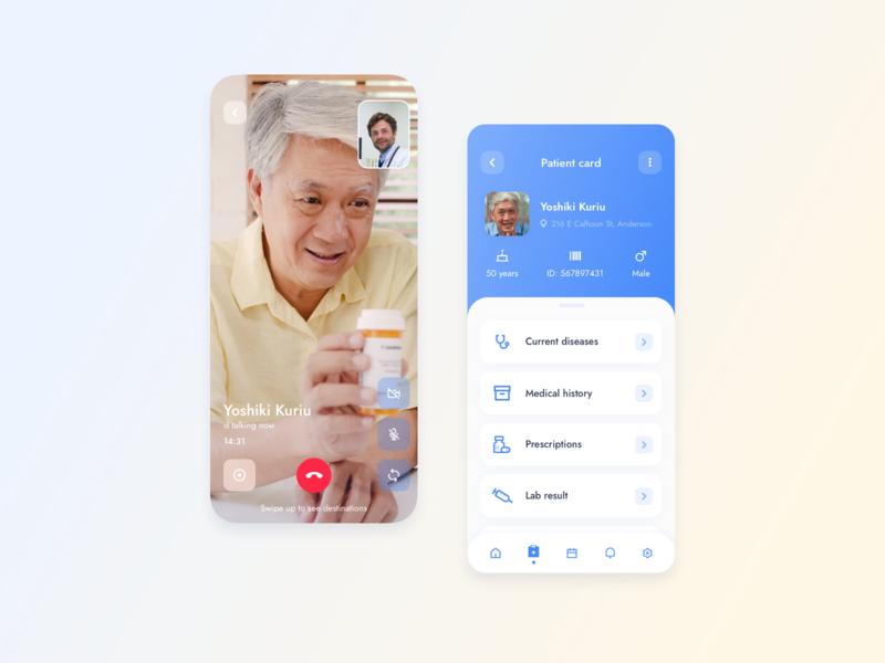 Patient Card for a Telehealth Platform platform telehealth mobile app design mobile app mobile telemedicine healthcare healthy medicine medical design