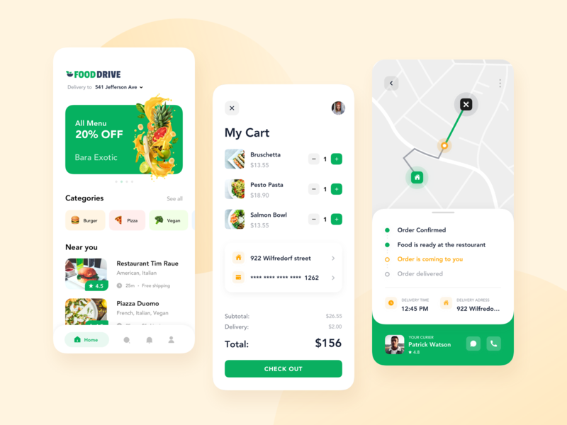 Food Delivery App for a Startup delivery service delivery app delivery app for a startup food delivery application food delivery service food delivery app food delivery food app mobile app design mobile app mobile ux ui