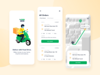 Drivers App for a Food Delivery Platform mobile app design mobile ui mobile app delivery service delivery app platform food delivery platform food delivery application food delivery app food delivery service food delivery food apps food app drivers app drivers ux ui