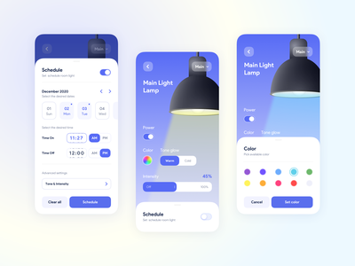 Smart Home typography profile social ios concept ux ui branding illustration design