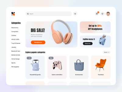 Marketplace Platform Design Concept ui social concept website dashboard online store online shopping magazine illustration marketplace app marketplace web design