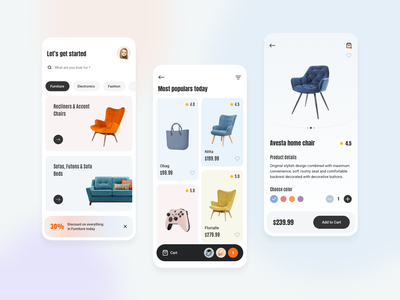Marketplace Mobile App typography branding mobile app mobile app design illustration online store online shopping marketplace app marketplace mobile design
