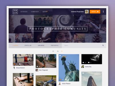 Photographer Community Concept