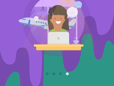 Tutorial App Screens tutorial ui bright ios intro business illustration login onboarding