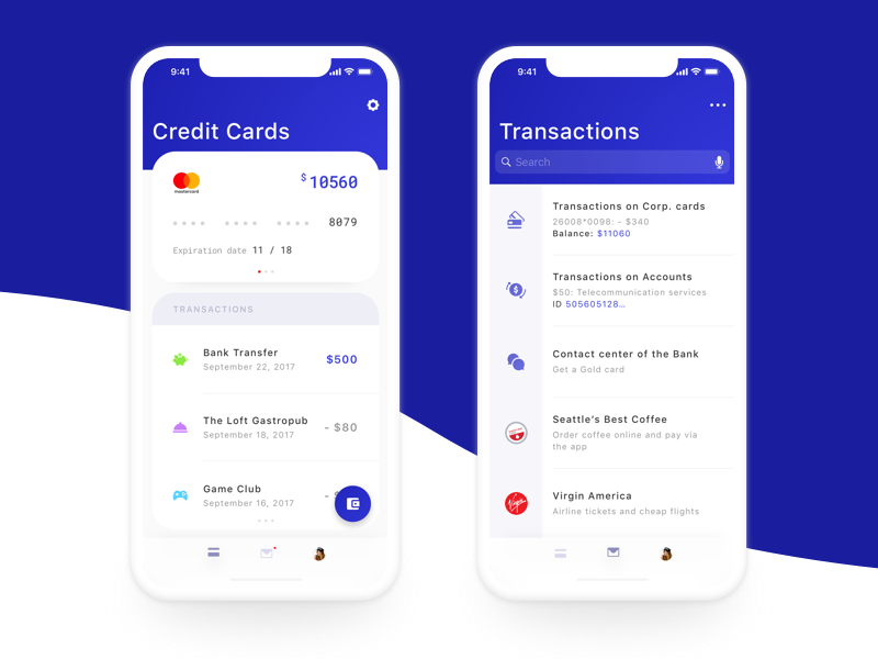 Mobile Banking Application minimal ios iphone x finance money cards banking credit cards