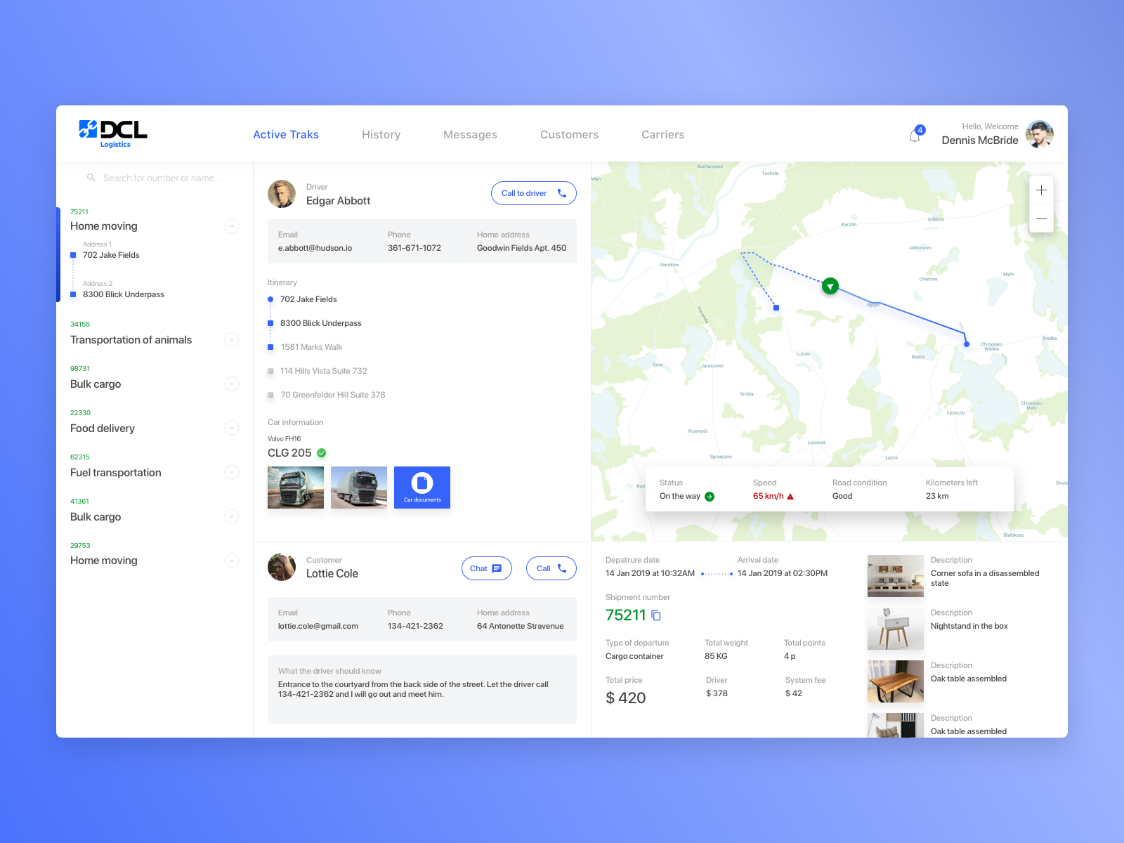 Logistics management system by Cleveroad on Dribbble