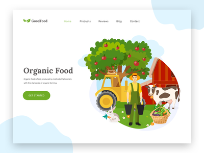 Organic food store nature graphic design graphic minimal organics food modern yellow vector social illustration ui website web design organic food organic e-shop e-commerce