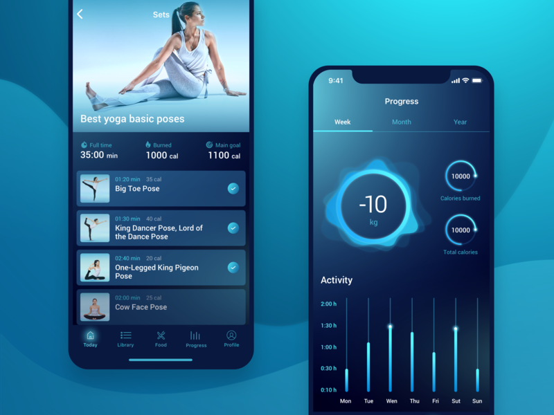 Yoga   Mobile app by Cleveroad on Dribbble
