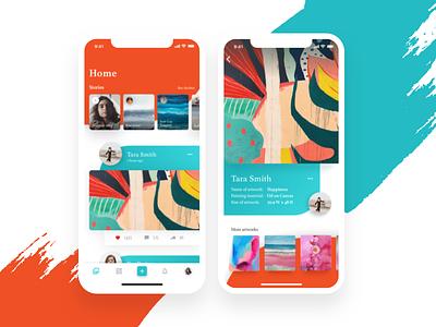 Media | Social network android illustration concept art concept mobile app layout design iphone social iphonex minimal ios icon flat design clean template app ux social network art
