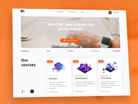 Landing page for educational portal