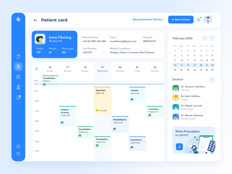 Management System for Hospitals and Labs hospital health app healthcare doctor app doctor medicine medic medical care medical app medical logo concept profile web site website dashboard ux ui design web