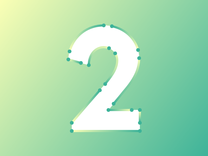 """""""Number Two"""" typography typehue type design creative colour challenge two 2"""