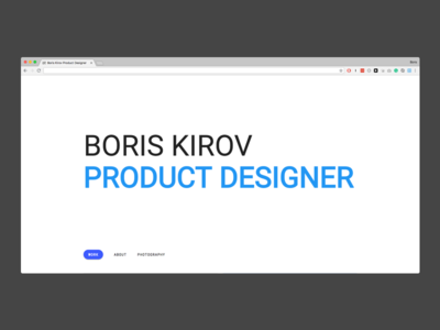 Personal website 🚀 personal website cv portfolio resume front-end css html design layout