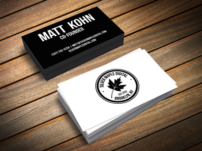 Black & White Business Cards brooklyn agency digital black and white minimal business cards