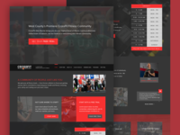 Return to Dribbble & #TBT CrossFit Web Design