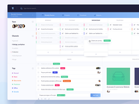 Weekly Planner Dashboard workplace ux ui management project todo tasks planner dashboard
