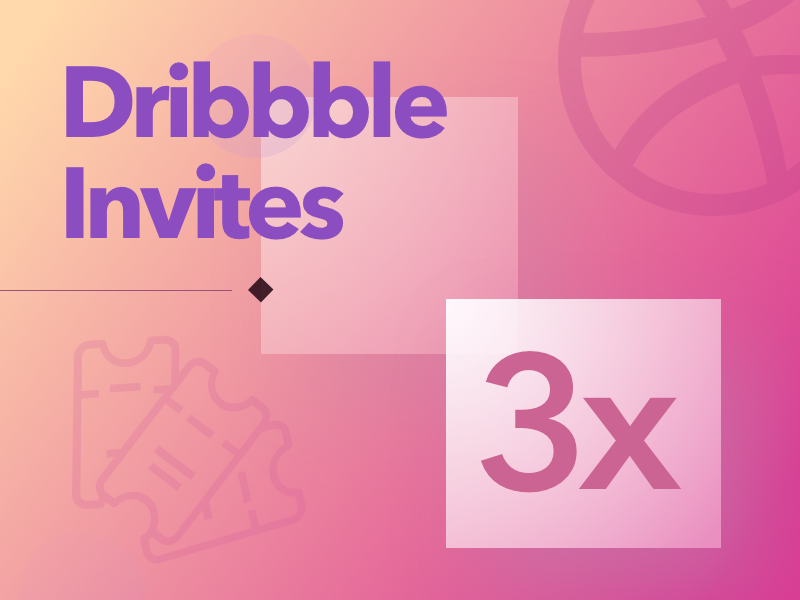 Dribbble Invite Giveaway - 3x dribbble invite giveaway