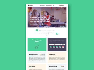 Redesign of Vendredi website graphic  design components component concept web  design webdesign website digital web pattern vector ux ui sketch minimal interface flat design