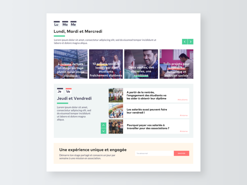 Redesign of the Vendredi website - Part 2 blocks components component graphic design connect concept web  design webdesign website digital web pattern vector ux ui sketch minimal interface flat design