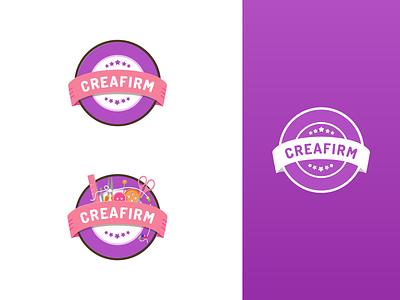 Logo Identity - Creafirm rounded circle logotypedesign purple white identity logotype logo design brand branding illustration logo ui minimal flat design