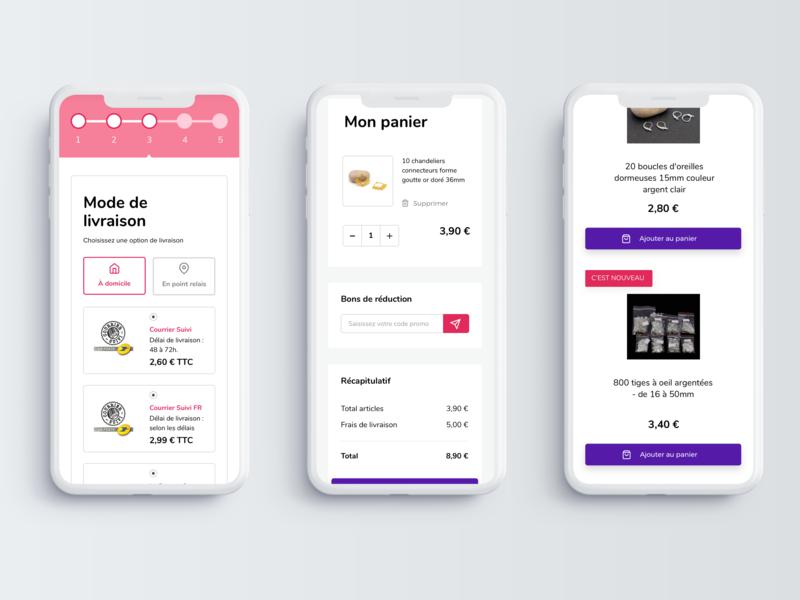 Redesign of Creafirm - Mobile Part 2 uidesign pink ecommerce mobile web  design webdesign digital website web interface sketch flat ui minimal design