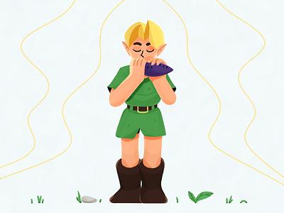 Zelda vector procreate 2d flat the legend of zelda zelda characters character illustration