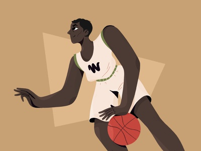Basketball Player procreate player basketball design character 2d flat illustration