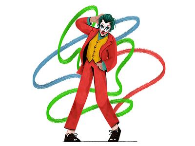 Joker character design characterdesign character joker movie joker raster 2d illustration