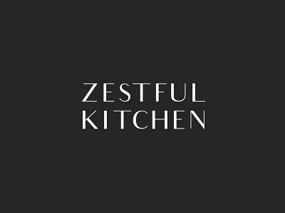 Zestful Kitchen classic modern black and white type food blogger food blog branding logotype logo