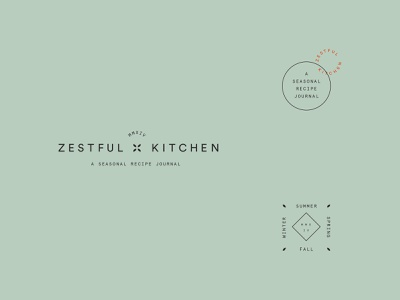 Zestful Kitchen concept typography secondary marks logo brand