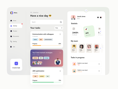 PIM Integration Dashboard 🧿 daily ui webinar communication management manadjment dashboard interface web e-commerce product user interface pim integration app design magento