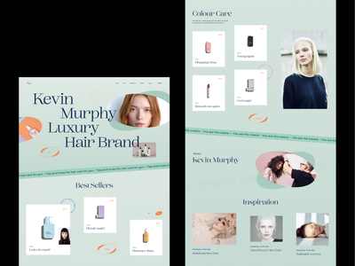 Cosmetics store Kevin Murphy 👩🏻🦳 beauty store cosmetics ui ux landing page website design shopping ecommerce product beuty minimal mobile responsive homepage store hair minimalism personal care web design web home page