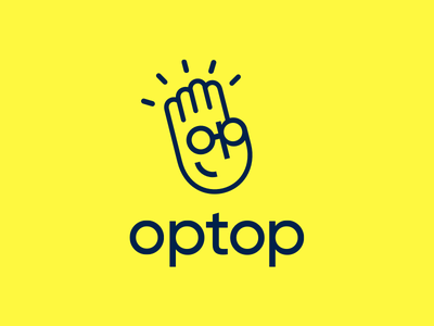 Optop - Brand Identity eyeglasses high five hand app application illustration icons branding