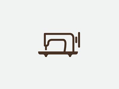 Tailoring services logo sewing machine craft branding minimal simple logo