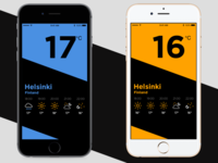 A Bold and Simple Weather App