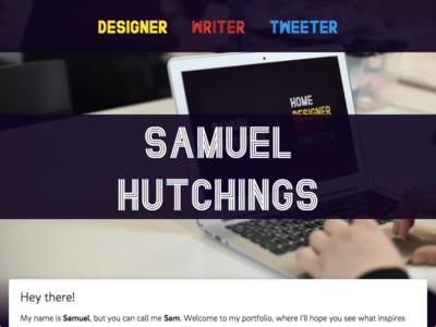 Launch - www.samhutchings.co purple writer designer portfolio website launch