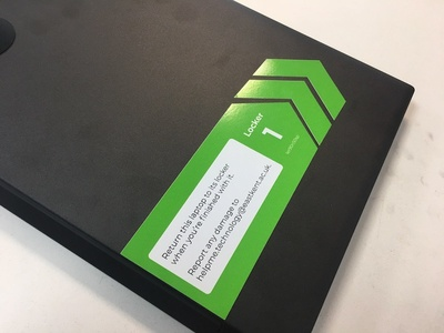 EKC - Laptop Labels physical sticker label laptop