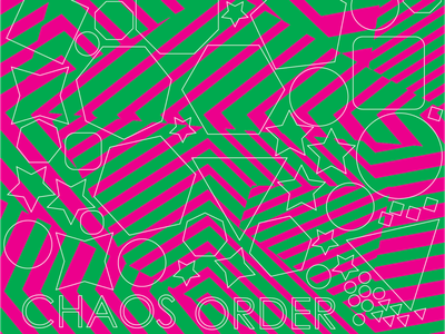 Chaos. Order. order chaos folkestone vinyl pattern dazzle