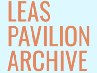 Leas Pavilion Wordmark (Orange on Blue)